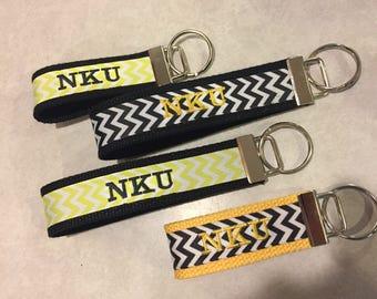 Embroidered NKU Inspired Keychain/Zipper Pull