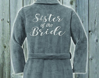 Sister of the Bride Plush Terrycloth Robe