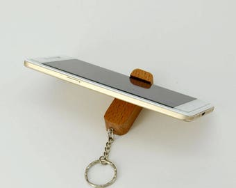 iphone stand iPad stand Wooden iPad Stand iPad Dock. huawei samsung phone wood stand. iphone Wood Docking Station Key chain key ring