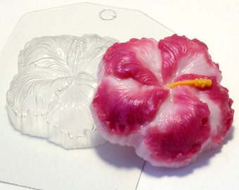 Hibiscus mold, Flower mold, plastic mold, soap mold, bath bomb mold, chocolate mold