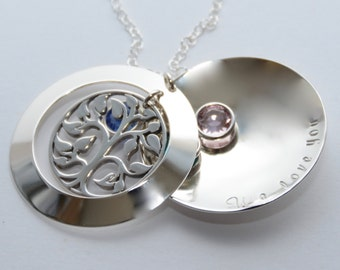 Grandmother locket pendant. Grandmother necklace. Grandmother gift. Mother necklace. Mother gift.