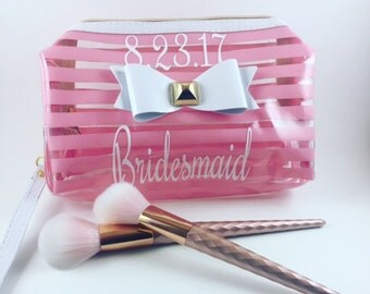 Cosmetic Sacks // Make up Bags // Personalized Bag / Bridal Party Gifts // Bridal Shower Gifts // Gifts for Bride // Gifts for Bridesmaid //