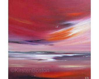 Shepherds' Delight 2 by Kirsten Boston, Giclée Fine Art Print, Signed, Scottish Landscape, Seascape, East Lothian