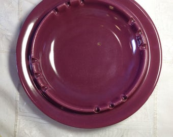 Large Retro Vintage Hyalyn Mid Century Modern Purple Ashtray Tobacciano