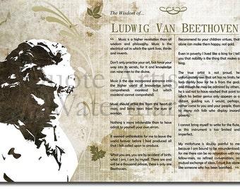 Beethoven Print Etsy