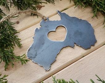 Love Australia Steel Ornament Metal Heart Christmas Tree Ornament Host Gift Keepsake Travel Wander By BE Creations