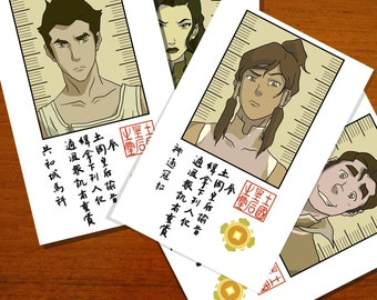 the Legend of Korra: Wanted Posters