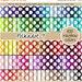 SALE 100 polka dot digital paper digital rainbow papers digital scrapbooking kit pattern pack 12x12 pastel neutral bright dark Instant downl