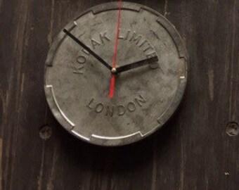 Vintage film tin clock 17.5cm