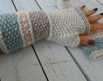 knit fingerless gloves, arm warmers, fingerless mitts, wrist warmers, hand warmers, knit gloves, knit mittens, wool gloves, made to order