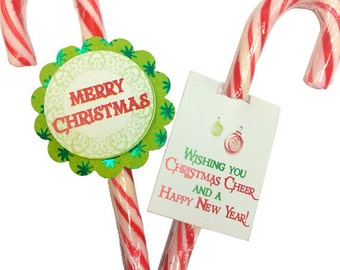 Candy Canes Christmas Cheer Favor Tag