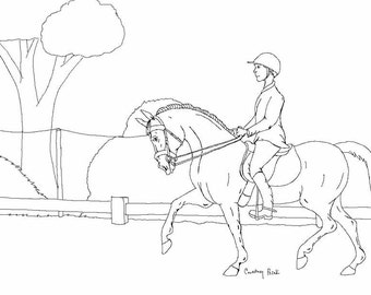 eventing coloring pages - photo#3