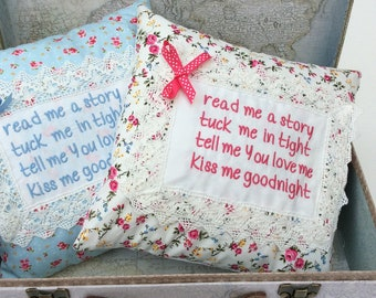 Embroidered Nursery Pillow,