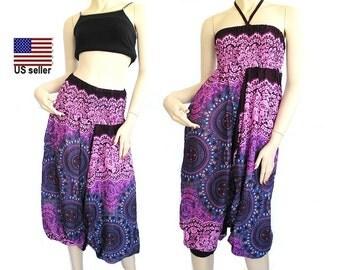 Harem Pants - jumpsuit-Trousers - Yoga Pants - aladdin pants - Hippie Pants – Gypsy pants…# 0004