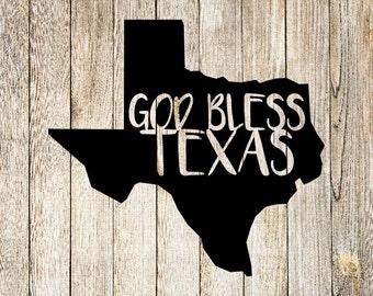 God Bless Texas SVG Cut File