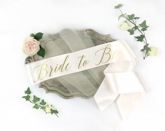 Bride-To-Be Sash - Bachelorette Sash - Bridal Shower Bachelorette Party Accessory - Satin Bride Sash - Bride Gift - Bride Sash