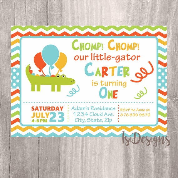 Alligator birthday invitation chomp chomp birthday printable il570xn filmwisefo