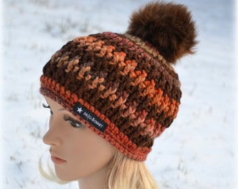 Bobble hat, crochet hat, winter Hat