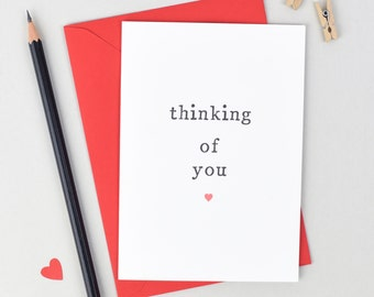 Thinking of You Card - Sympathy Card - Thoughts Are With You Card - Friendship Card - Sorry For Your Loss Card