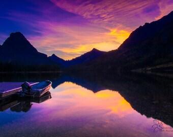 Sunset on Two Medicine Lake