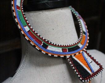 African Kenyan Masai Bridal Necklace