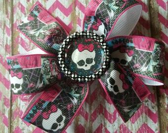 Monster High Glitter Bottle Cap Hair Bow Clip,  Hair Accessories