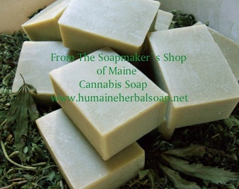Hempseed Oil Soap - Cannabis Soap - Maine Soap - Hemp Soap - Handmade Soap - Maine Soap Maker - Weed Soap - Marijuana Soap - Cold Process