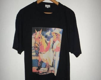 On Sale Rare Paul Smith T Shirt Designer Pop Art Cowboy Stylish tshirt memorabilia Women Cowboy Girl tshirt Polo paul smith unique nice tops