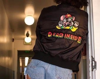 "Creature of Habit x Artbaby - "" Dead inside"" bomber jacket"