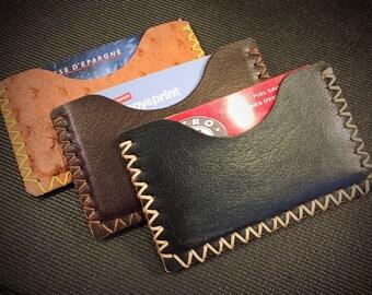 Leather Card Wallet - Card Holder - Minimalist Wallet - Men's Wallet - Women's Wallet