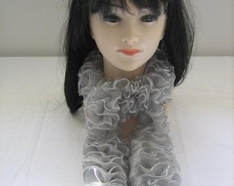 Scarf scarf effect satin ribbon