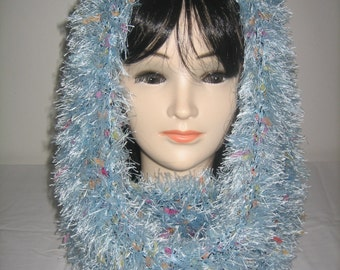 Snood neck hood 3 in 1 wool hairy fantasy
