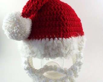 Santa Hat- Santa Costume- Halloween Costume- Toddler Santa Hat- Adult Santa Hat- Christmas Hat- Newborn Photo Prop- Christmas Pajamas- Santa