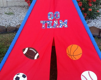 Red Sports Play Tent