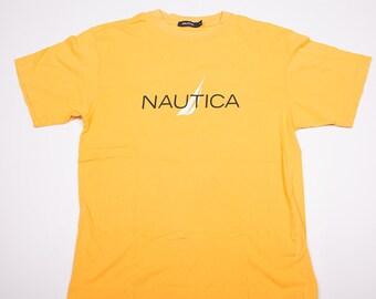 Vintage Nautica Logo Yellow Tshirt