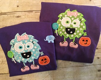 Candy Monster Boy/Girl  Halloween Onesie/Tshirt