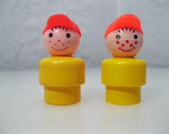 Vintage Fisher Price Little People Boys - set of 2