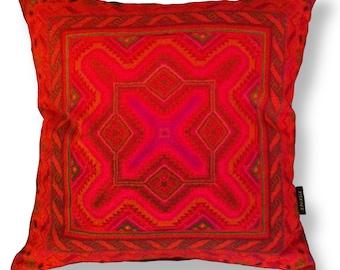 Red velvet cushion cover sofa pillow ROSE-RED