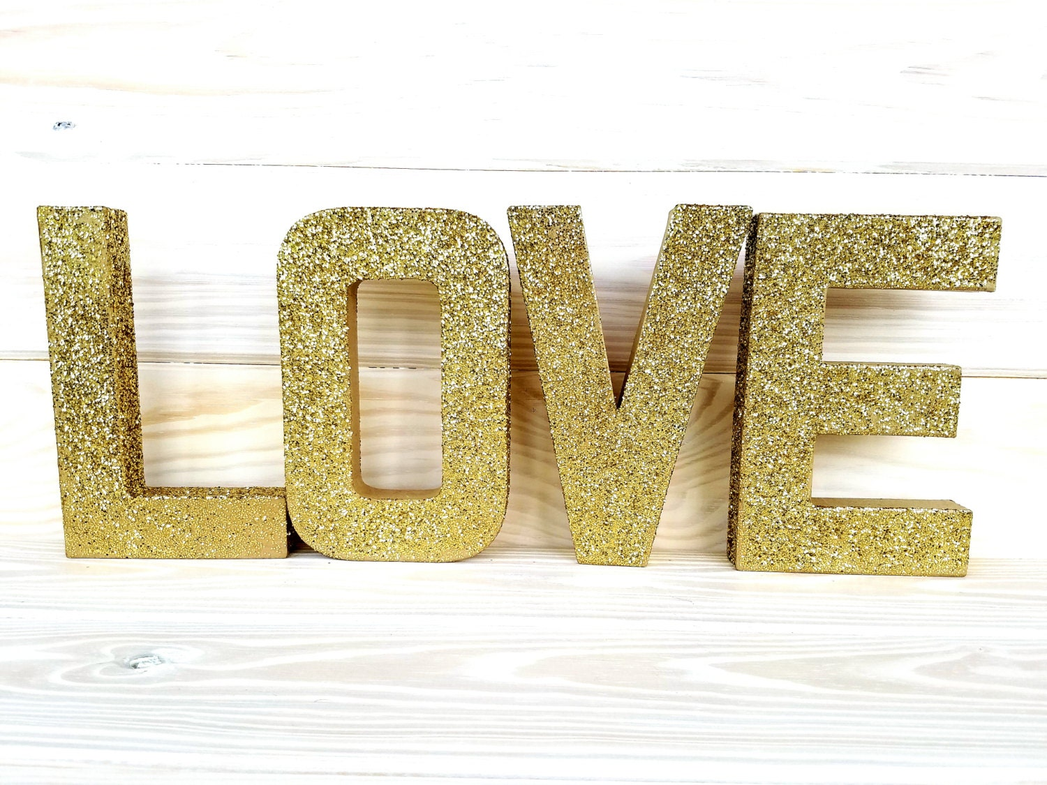 Gold glitter paper mache letters paper mache number for Glitter cardboard letters
