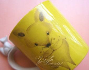 Mug Fox - cups illustration crockery Tableware ceramics woodland teacup Fox fox renard