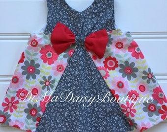 Girl Valentine Dress, Baby Girl Dress, Girl Summer Dress, Little Girl Dress, Girl Red Dress, Toddler Girl Dress, Girl Sundress, Infant Dress