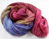 Bourbon And Fuzzy Slippers Always Mix - Fingering Yarn READY TO SHIP 100g 400y 95/5 Sw Merino Stellina  - Wine, lilac, mahogany, pink, moss