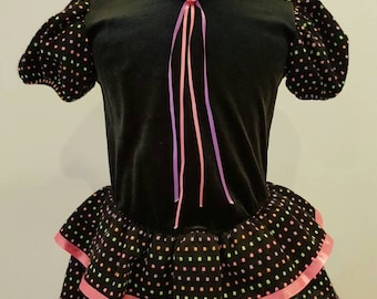Vintage girls neon dress