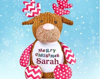 Personalised Cubbie Reindeer | Stuffed Reindeer | Christmas reindeer