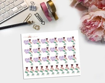 Mainstreet Mermaid Disney Day Planner Stickers
