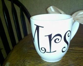 Curlz font Mrs. extra large coffee mug