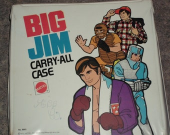 Vintage 1973 BIG JIM Carry-All Case w/ Accessories - Mattel