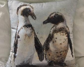 """20"""" x 20"""" African Penguin Pillow"""