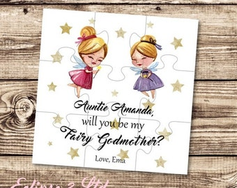 Will You Be My Godmother Godmother Puzzle Invitation Asking