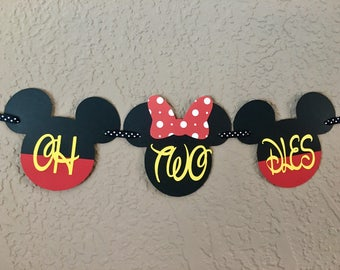 Minnie and Mickey Oh Two Dles, Minnie Mouse Oh Two Dles, Mickey Oh Two Dles, Minnie Banner, Mickey Banner